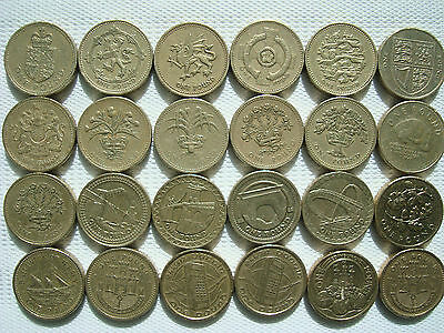 £1 Pound Coin Great Britain UK United Kingdom coins