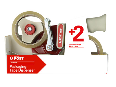 Packaging Tape Dispenser Heavy Duty+2 rolls of clear tape BEST ON THE MARKET!