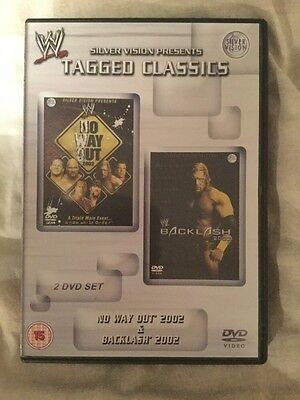 WWE Tagged Classics - No Way Out & Backlash 2002 DVD WWF Rare 02