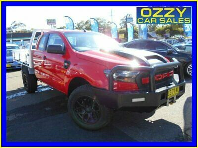2015 Ford Ranger PX MkII XL 3.2 (4x4) Red Manual 6sp M Super Cab Chassis
