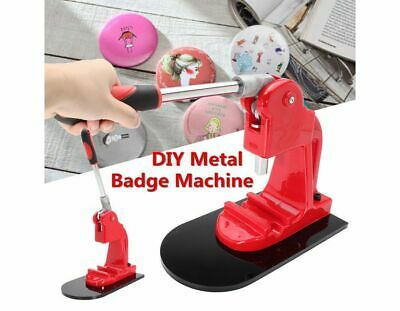 Button Maker Badge Making Machine Round Pin Home Hand Press Manual Tool 58mm
