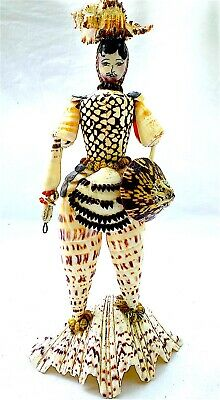 Antique Seashell Grotto Figure Of A Male Italy