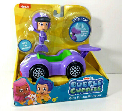 NEW Nick Jr BUBBLE GUPPIES Action FIGURE & VEHICLE Racer Fin-tastic GIL Toy