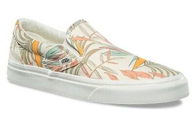 f6de2502387016 Vans Classic Slip On (California Floral) Marshmallow Shoes Sz 5.5 Womens  New⚡️