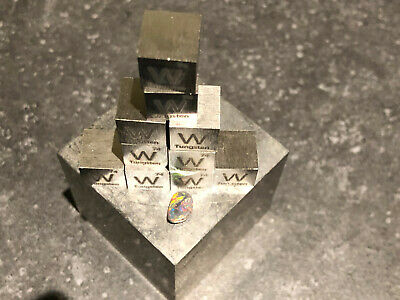 Tungsten Metal 10mm Density Cube 99.9% Pure Fast USA Shipping