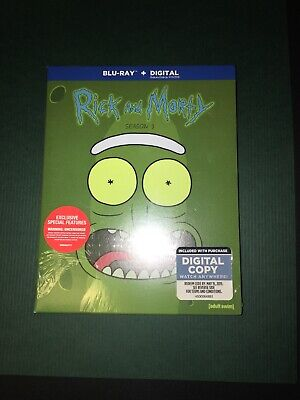 Rick and Morty: Complete Third Season (Blu-ray, Digital HD) Brand New Sealed