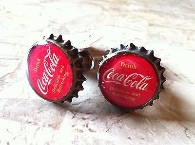 "Two Collectible ""Drink Coca-Cola/Coke"" Red Cap Pull Knob For Doors/Cabinets"
