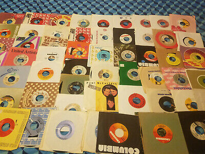 "Jukebox Lot Of 50 45's Records Jukebox 7"" 45 rpm"