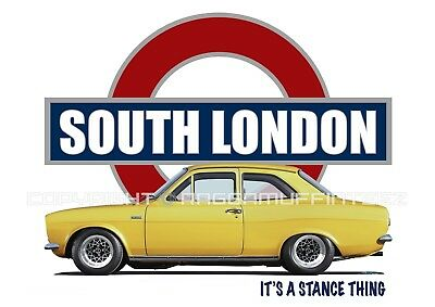 FORD ESCORT MK1 SOUTH LONDON t-shirt. OLD SKOOL. CLASSIC. MODIFIED. RETRO.