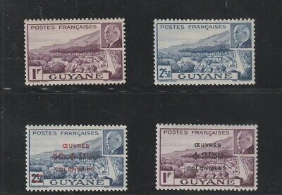 French Guiana - French Colonial- Definitive Set Of 4 Old Stamps Mh ( Guya 962 )