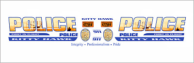 1//24 South Carolina State Transport Police Department Waterslide Decals