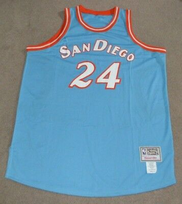 16d5e5ee980c3 World B. Free San Diego Clippers Throwback Mitchell & Ness Jersey Sz 54 HWC