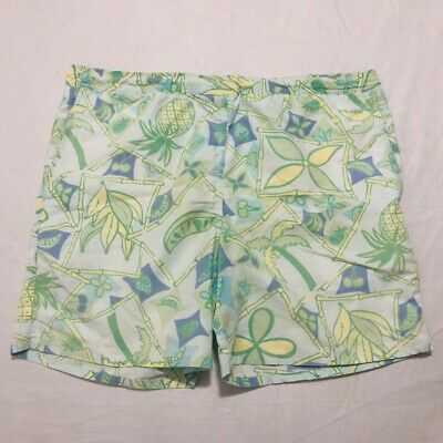"cfcdad0bb4f8a Lilly Pulitzer Mens Swim Trunks Board Shorts Size Large (40"" Waist) Green  Fruit"