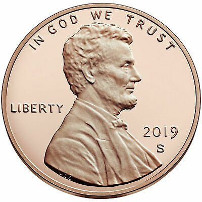 50 2019-S Proof Lincoln Cent Deep Cameo Proof IN A 2X2 VINYL COIN FLIP PVC FREE/