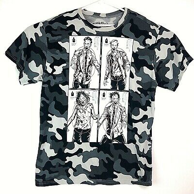 37df5648 Fifth Sun Mens XL Funny Zombie Target Practice Graphic Camouflage S/S T- Shirt