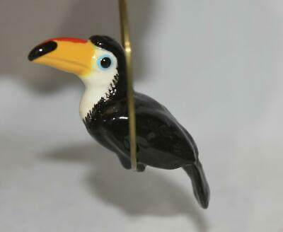 Hagen Renaker Toucan Bird Figurine on Metal Ring