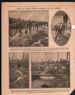 WWI  British Army Trench Front la Somme/General Nivelle/Haig 1917 ILLUSTRATION