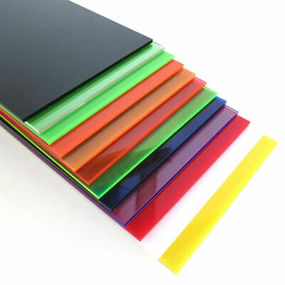 100x200mm Color Acrylic Sheet Panel Plexiglass Plastic Plate DIY Model Craft x 1