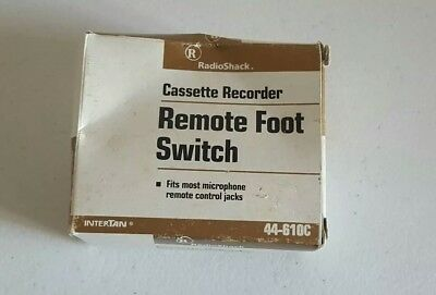 Radio Shack 44-610c Cassette Recorder Remote Foot Switch With Box Vintage