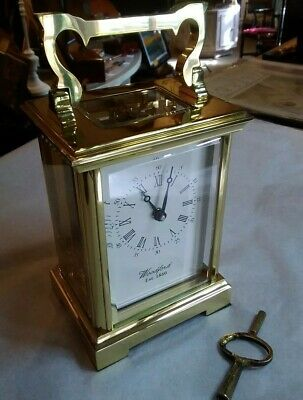 Antique carriage clock, Woodford, eight day movement,