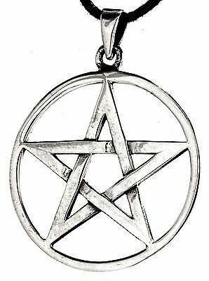 No 229: Large Pentagram 925 Silver Pendant Guardian Magic Magic Amulet Ring