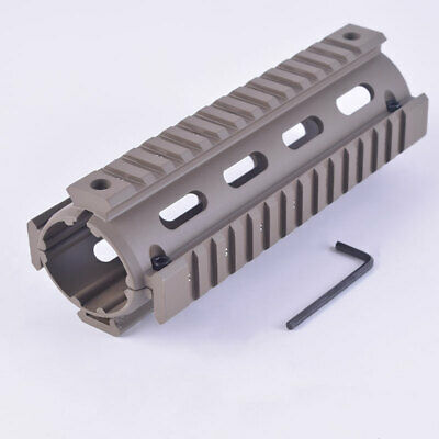 Handguard Picatinny Quad Rail Mounting System 2 Piece Drop-In Sand