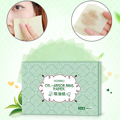 100pcs Facial Oil Control Papers Wipes Sheets Absorbing Face Blotting Clean PB