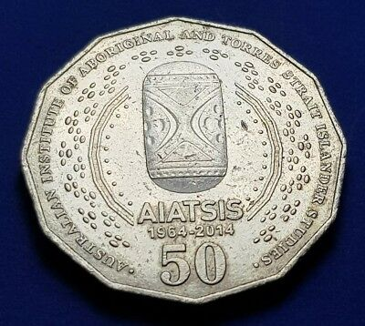 2014 AUSTRALIAN - AIATSIS - 50 CENT COIN FROM - RAM - aUNC - LOW MINTAGE - RARE