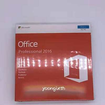 Microsoft Office 2016 Professional 32+64bit For 1PC Full Version with DVD