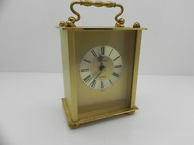 Collectable President Quartz Vintage Brushed Brass Carriage Clock Germany Made