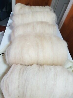 400gr Wool Fleece Carded No Chemicals Spinning Felting Crafts
