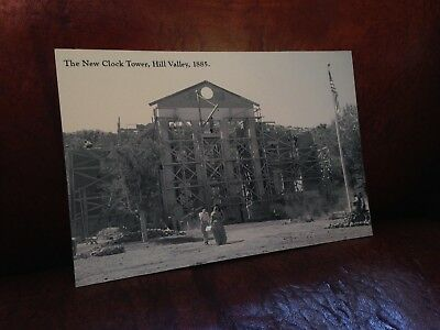 Post Card Back to the Future III Hill Valley Clock Tower 1885 bttf 3 hoverboard