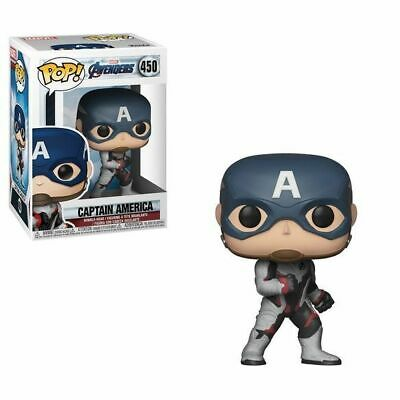 Funko Pop Marvel Avengers End Game Captain America (Team Suit) #450 Vinyl Figure