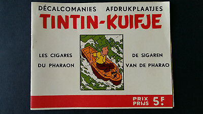 Tintin Kuifje Tim Décalcomanies bilingue +1963 Cigares Pharaon complet superbe