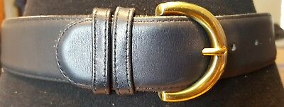 Coach belt very dark blue or black size small solid brass buckle size 28