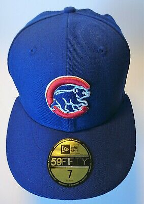 d8669ce6c6a MLB NEW ERA Fitted Hat 7 1 4 Chicago Cubs Cap Blue w  pin ...