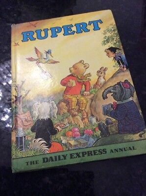 1972 Rupert Bear Annual In Superb Vintage Condition Price & Puzzles Intact