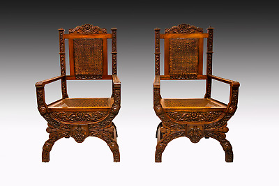 A Fantastic Quality Pair Of 19Th Century Colonial Rosewood Chairs