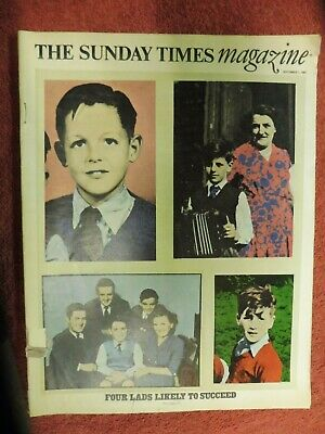 The Sunday Times Magazine Sept 1 1968 4 lads likley to succeed. The Beatles