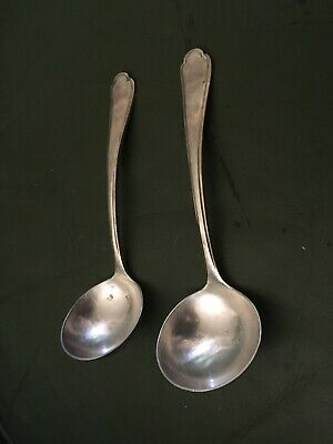 Pair Of Silver Plate Sauce Ladles