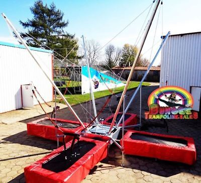 New For 2018 Our Deluxe Fully Galvanized 4 Bed Trailer Mounted Bungee Trampoline