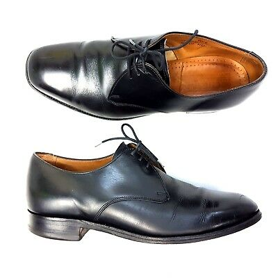 1243e6a64637c Cheaney Mens Shoes Black Formal Plain Brogues Rye 1978 E Oxford UK Size 8