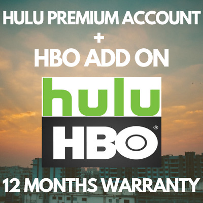 HULU Premium Account ✅ HBO ADD ON ⭐ 12 MONTHS WARRANTY & FAST DELIVERY ⭐ GIFT 🎁