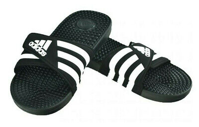 77037151eec6 Adidas Men Sandals Swimming Adissage Slides Unisex Black Beach Shoes F35580  New