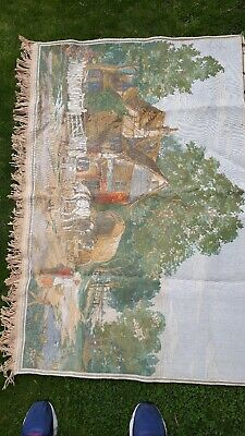 large antique wall tapestry material