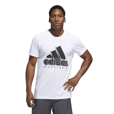 Adidas Mens T-shirts Athletics Sport BOS SOLID Graphic Logo Tee DU6303 New