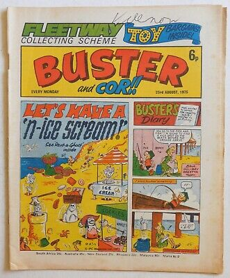 BUSTER & COR Comic - 23rd August 1975