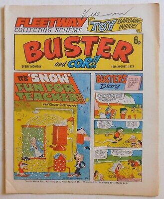 BUSTER & COR Comic - 16th August 1975