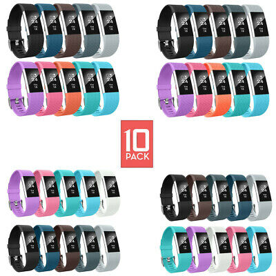 6 Pack Fitbit Charge 2 Replacement Wrist Bands Smart Watch Bracelet Band LARGE