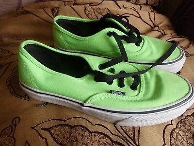 Vans Off The Wall Unisex Neon Green Lace Up Canvas Trainers UK 5.5/ US 7.5